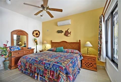 Back bedroom at Casa Topaz, Cozumel vacation rental