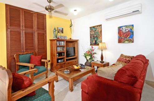 Casa Topaz living area - Cozumel vacation rental property