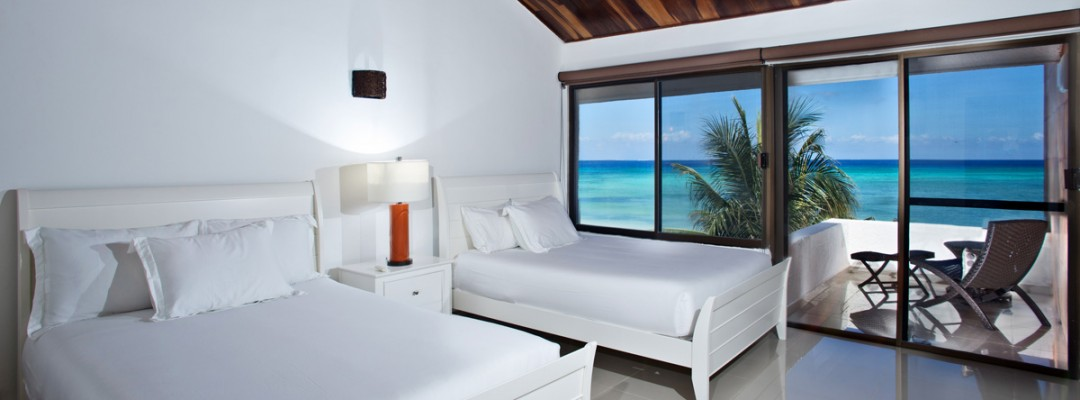 Luxury oceanfront Cozumel private vacation villa