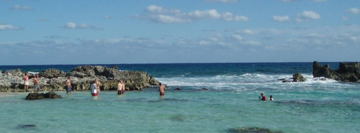 Cozumel vacation beach area