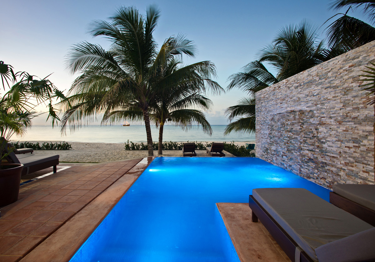 Cozumel vacation rental beachfront villa