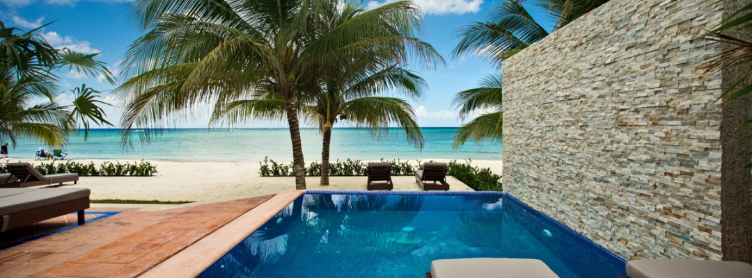 Cozumel luxury beachfront villa for rental