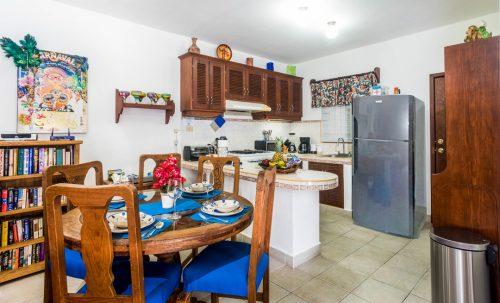 Cozumel villa kitchen