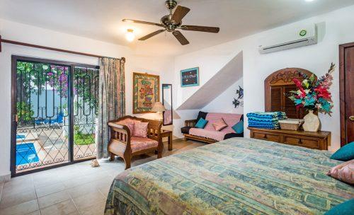 Front bedroom at Casa Topaz, Cozumel vacation rental