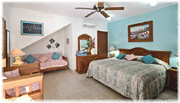 Cozumel vacation villa king size bed