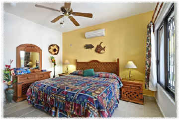 Cozumel vacation rental villa king size bed