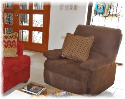 Cozumel rental villa recliner