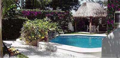 Villa Cabalitos pool and palapa.  A Cozumel vacation villa rental