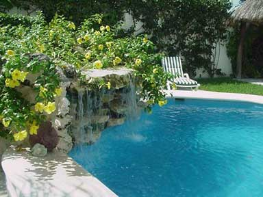 Cozumel vacation rental villa waterfall