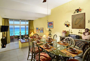 Ocean view from the dining area at this Cozumel vacation rental condo