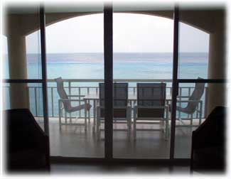 pcean view from the living area at Casa Cozumel