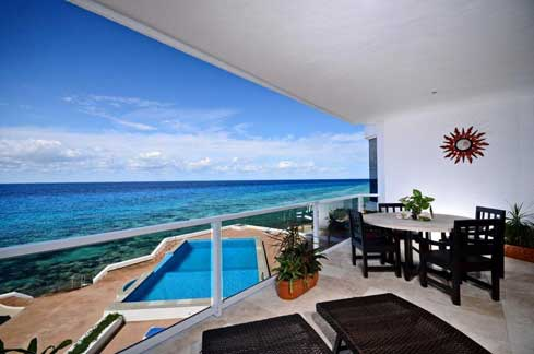 Cozumel vacation rental oceanfront condo