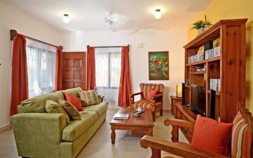 downstairs at Villas Topaz, Cozumel vacation rental villa
