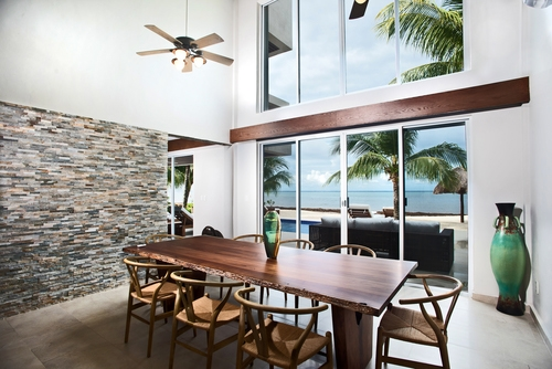 Cozumel vacation rental villa dining room