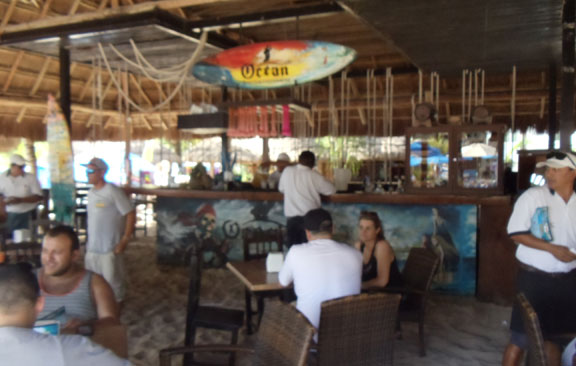 Beach club bar Cozumel