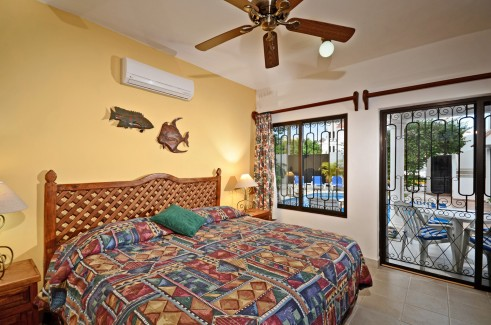 Back bedroom at Casa Topaz, Cozumel vacation rental