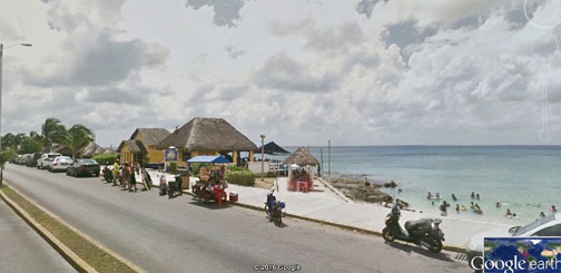 Small public beach near our Cozumel rental by owner