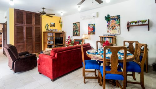 Casa Topaz living area - Cozumel vacation rental property
