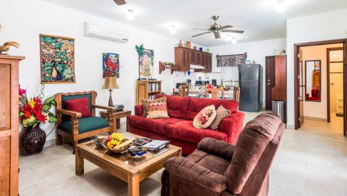 Open floor plan of this Cozumel rental - Casa Topaz