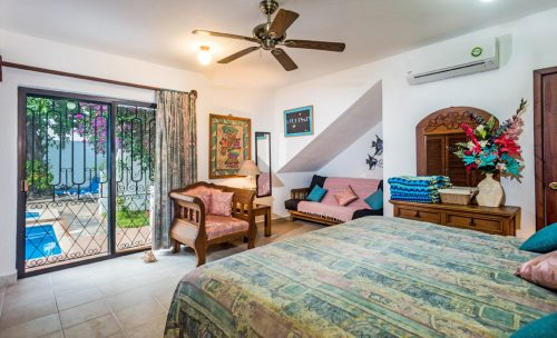 Front bedroom at Casa Topaz, Cozumel rental by owner