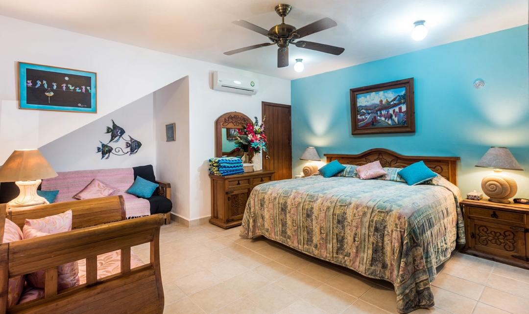 Cozumel vacation villa king size bed