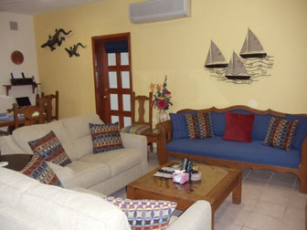 Living area  upstairs at Caballitos vacation rental villa