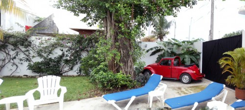 Cozumel condo off street parking