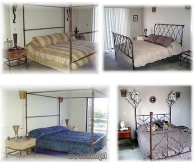 Cozumel beach area villa bedroom
