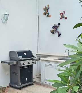 Weber gas grill at Cozumel rental condo