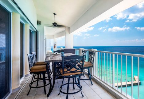 terrace at the Cozumel vacation rental condo Las Brisas 702