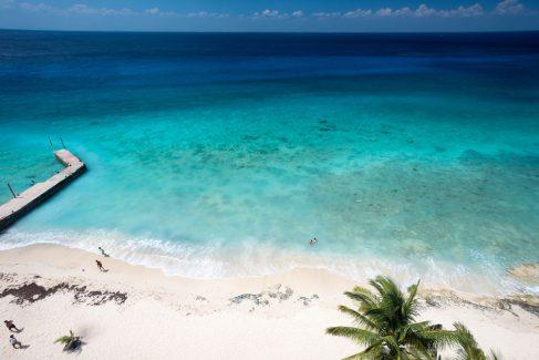 sandy beach area at Las Brisas condos