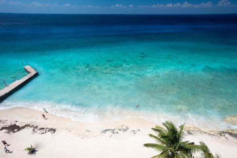 view from Cozumel beachfront rental condo