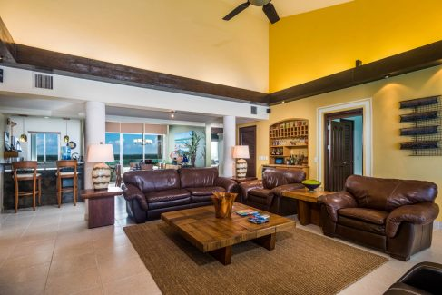 The living room at Las Brisas 702