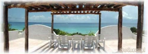 Rooftop at Villa Coronado, Cozumel beach area vacation rental villa