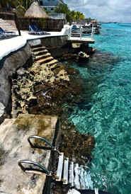 Entry to the ocean at Cantamar Condos