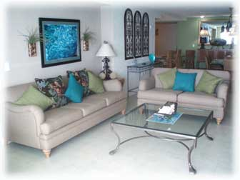 Living area at Casa Cozumel, a vacation condo for rent in Cozumel