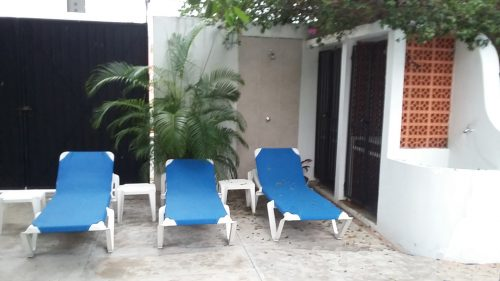 Cozumel vacation condo garden