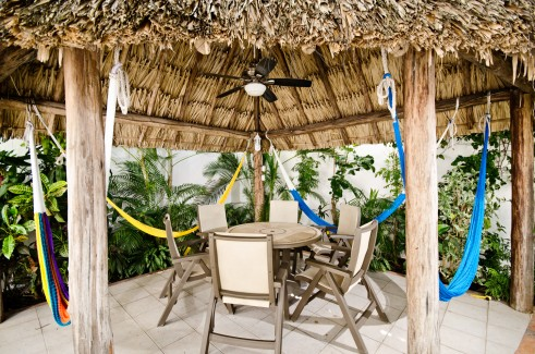 Patio at your Cozumel rental condo