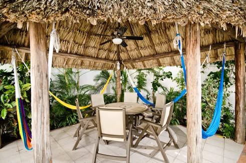 Patio at your Cozumel rental condo