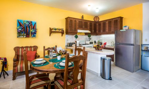 Cozumel vacation rental dining/kitchen area