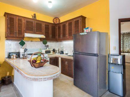 Cozumel rental condo full kitchen