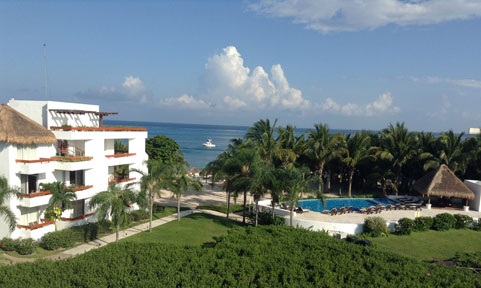 Cozumel beach area condo rental