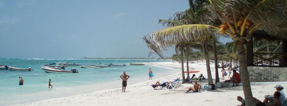 Sandy beach on Cozumel