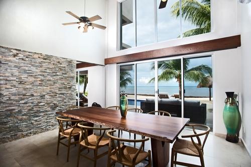 Cozumel vacation rental villa dining room