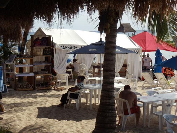 Massage area at San Francisco Beach Club