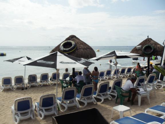 Cozumel beach club Carlos n Charlies