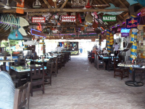 Cozumel beach club Carlos n Charlies