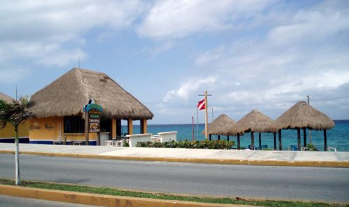 Cozumel public beach south of town