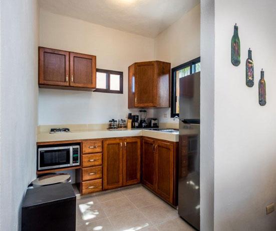 The modern kitchen at Studio Alegria