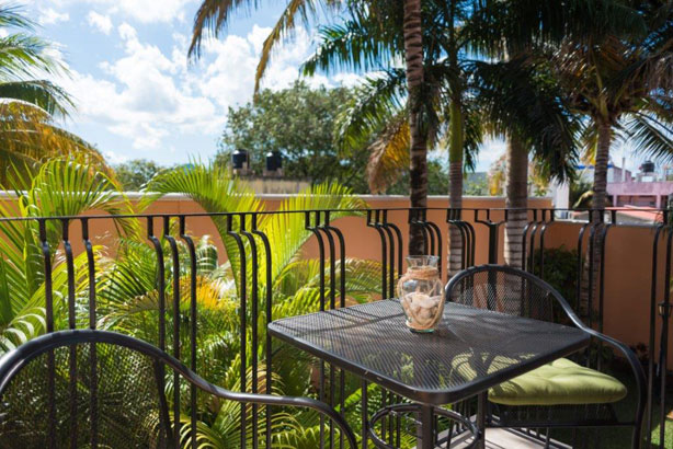 Private terrace at Studio Alegria